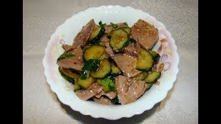 Язык с огурцом по китайски // tongue with cucumber in Chinese