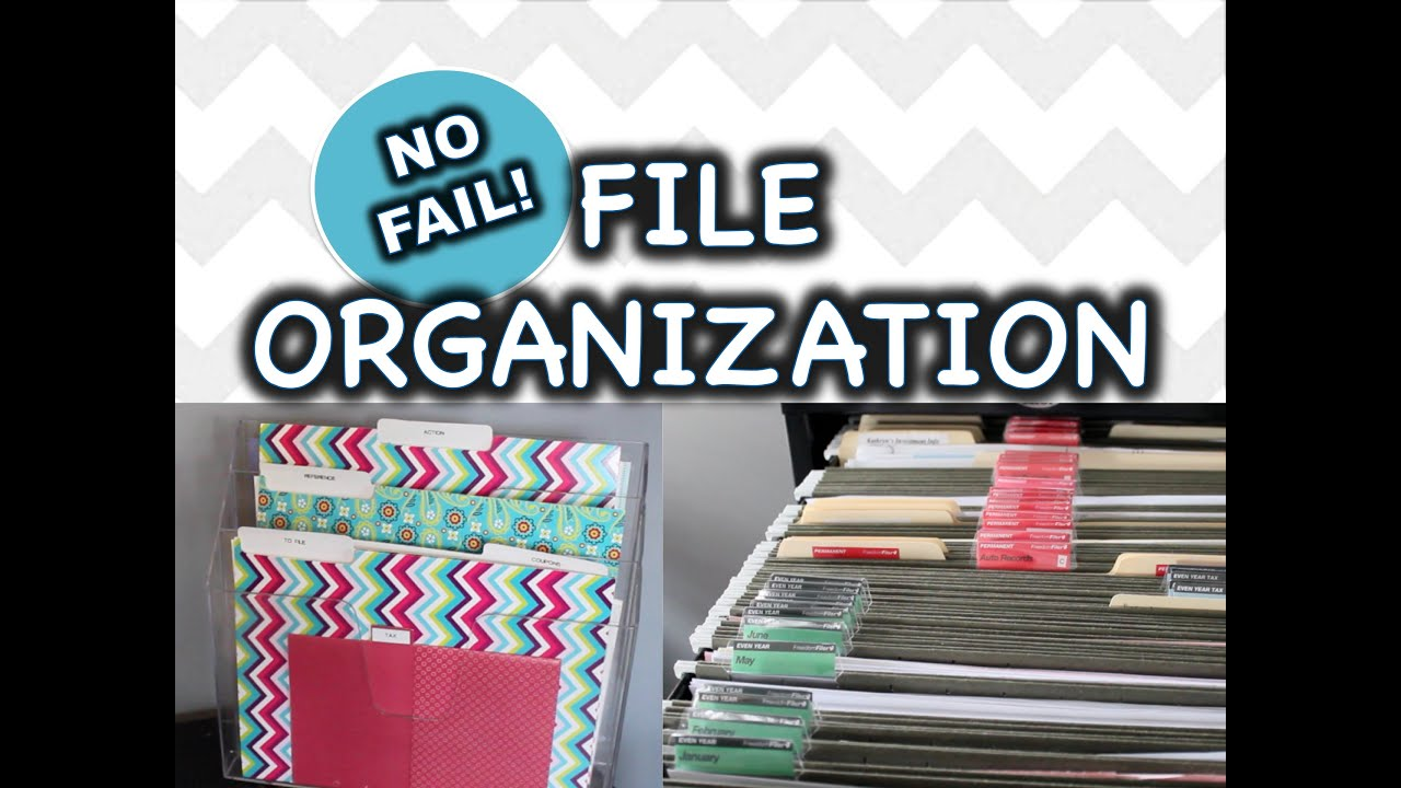 Organize Files Paper Clutter Youtube