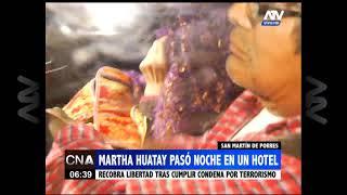 SMP: Martha Huatay pasó la noche un hotel tras salir de prisión