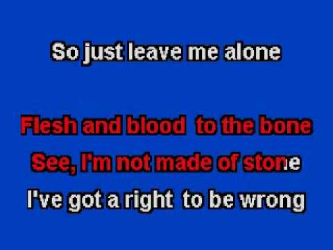 Right To Be Wrong. Karaoke