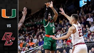 Miami vs. Boston College Basketball Highlights (2018-19)