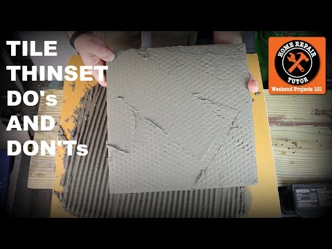Thinset for Tile...DO's and DON'Ts (Quick Tips with Sal DiBlasi)