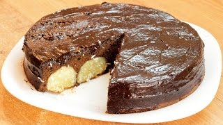 Шоколадный торт с творожными шариками / Chocolate cake with cottage balls recipe ♡ English subtitles