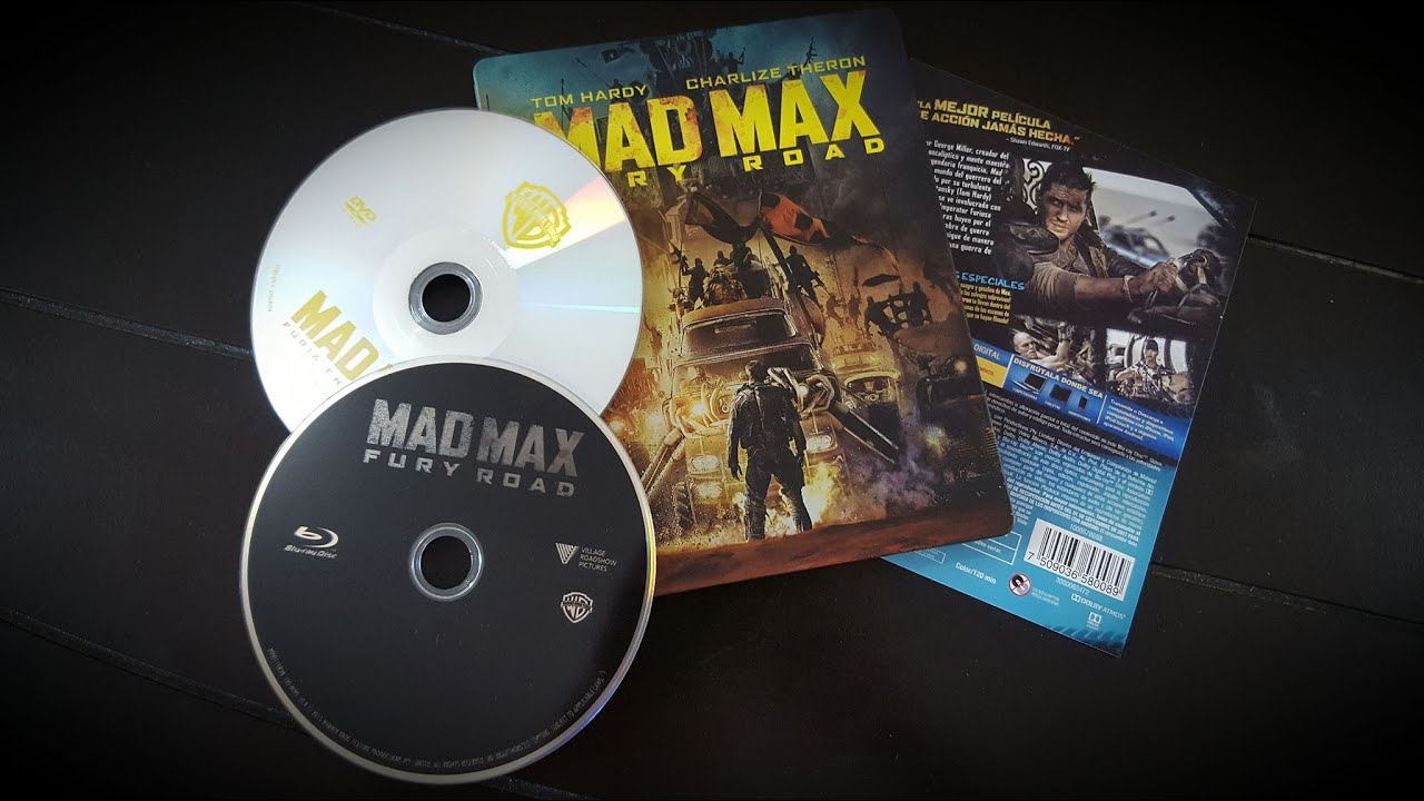 Mad Max Fury Road Limited Edition Blu Ray Steelbook