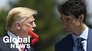 """Trudeau responds after Trump calls Canada """"slightly delinquent"""" on NATO spending"""