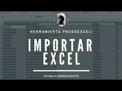 Mybusiness Pos Importar Productos De Excel Youtube