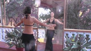 Видео-уроки с Катей Jiva (sacret tribe). Урок #6: Базовые шаги. Бедра (маятник, тряска)