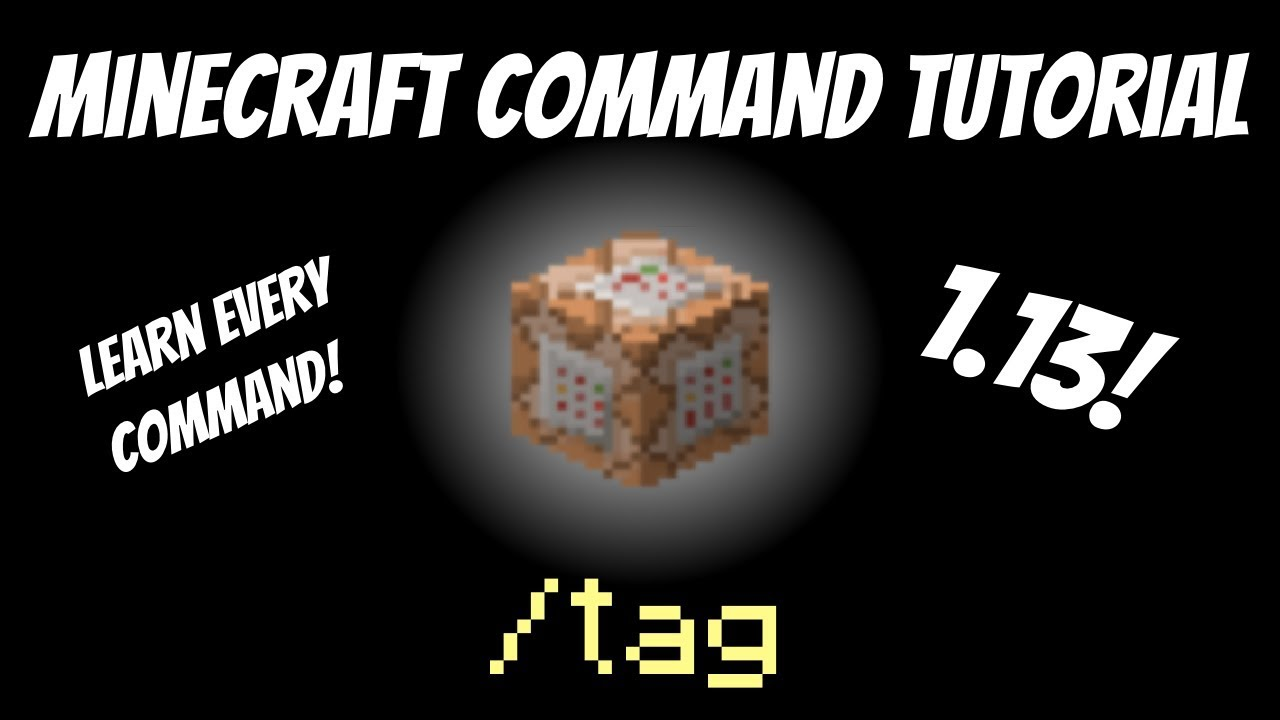 How to use the /tag command in Minecraft 1 13 Tutorial Aquatic