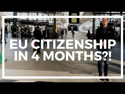 How to get EU citizenship in 4 months?!