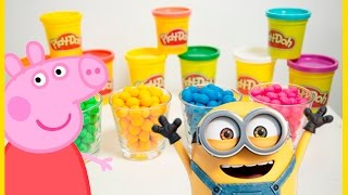 Play Doh Surprise Rainbow Dippin Dots  - Peppa Pig - Candy - Minions
