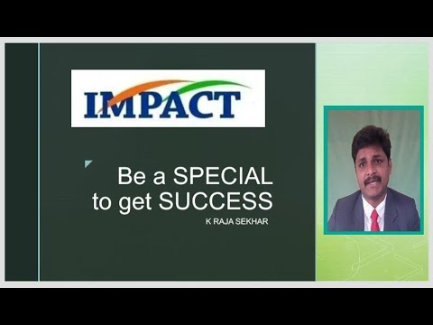 Be a SPECIAL to get SUCCESS | Koti Rajasekhar | IMPACT | 2018