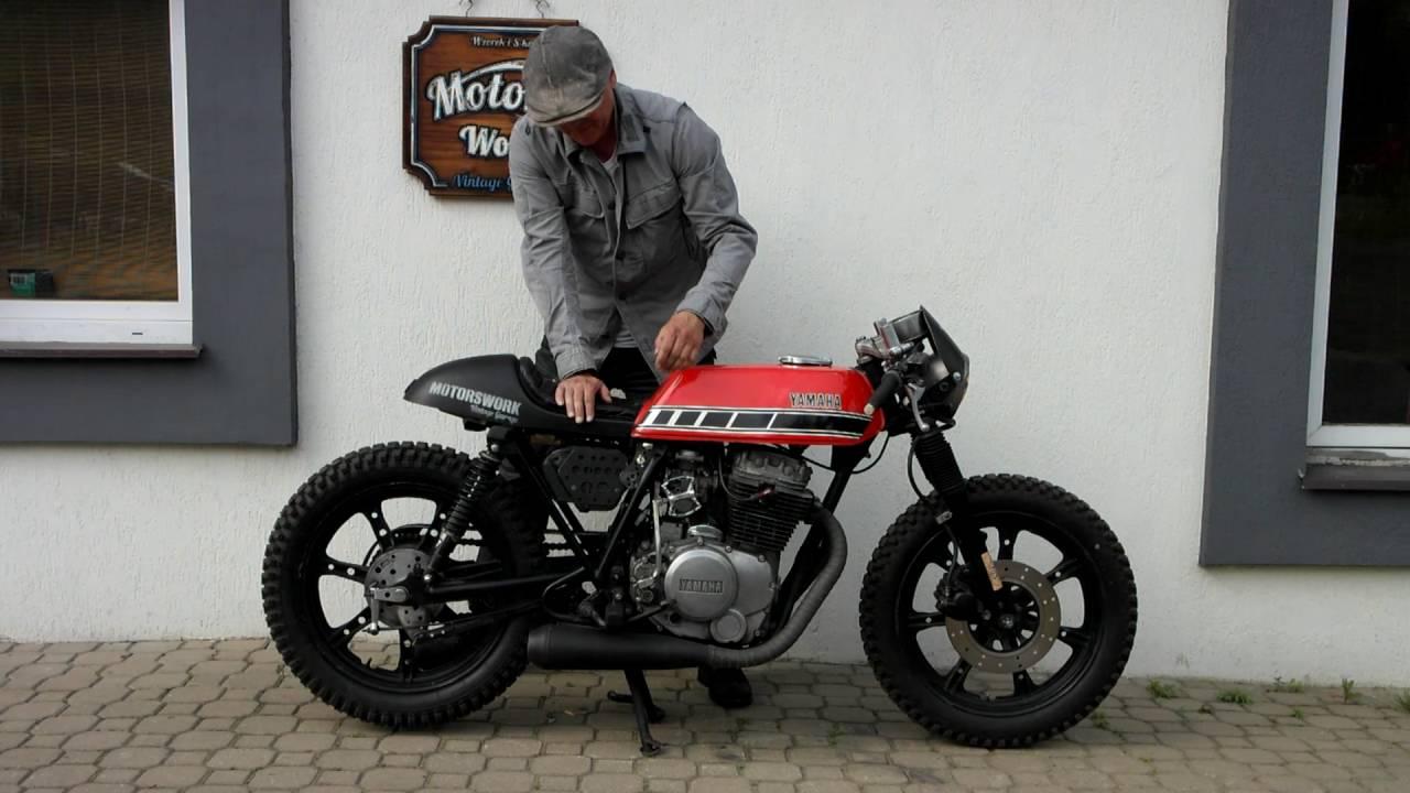 cafe racer rat yamaha xs 400 kickstart - built motor work vintage