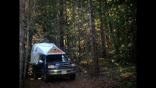 Tour This Unique truck bed Geodesic tent camper.