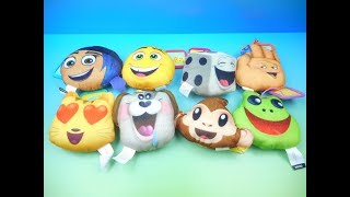 2017 THE EMOJI MOVIE SET OF 8 McDONALDS HAPPY MEAL KIDS TOYS VIDEO REVIEW by FASTFOODTOYREVIEWS