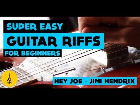 Hey Joe Guitar Riff | Easy Jimi Hendrix Guitar Lesson - YouTube