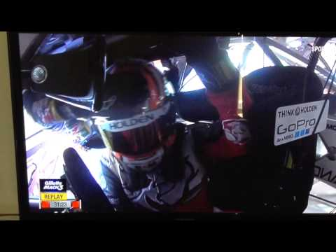 V8 supercars Craig lowndes and warren luff crash and roll