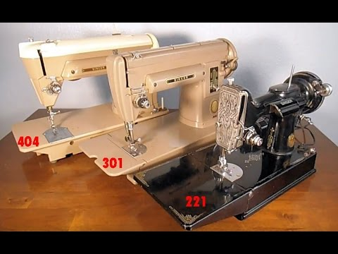 COMPARE  SINGER SEWING MACHINE MODELS 221 301 404 (no sewing