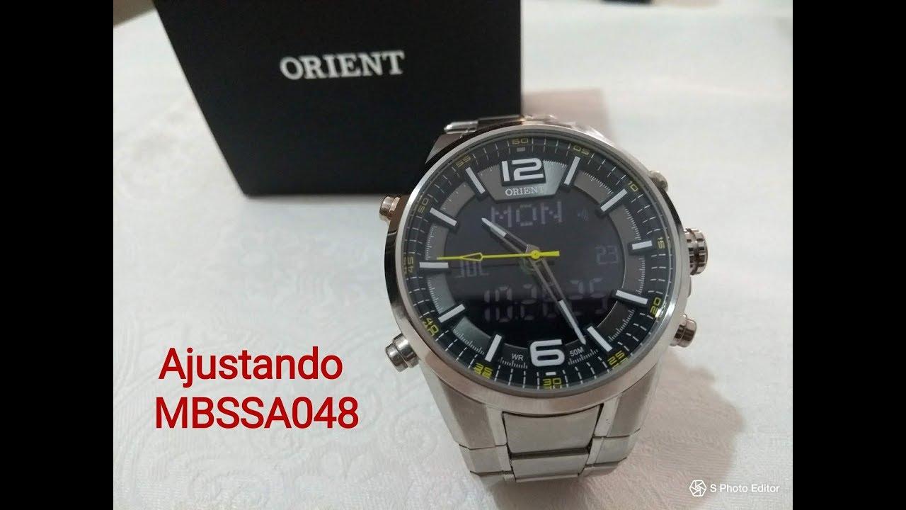 7e6671a1b00 Ajustando Relógio Orient MBSSA048 - YouTube