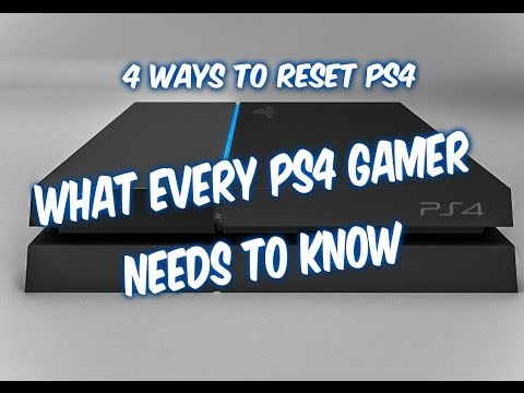 4 WAYS HOW TO RESET PS4 - factory restore, controller reset, service menu, initialize PS4