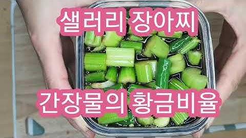 [저장요리]샐러리장아찌 간장물의 황금비율