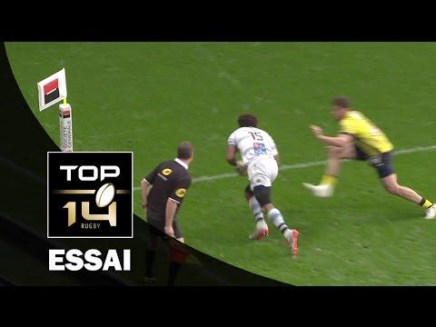 TOP 14 ‐ Essai Benjamin FALL (MHR) – Clermont-Montpellier – J20 – Saison 2016/2017
