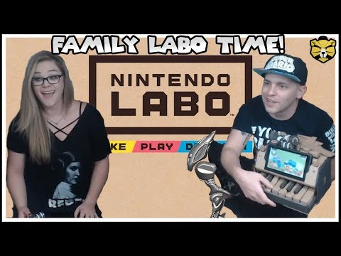 Poo And Wife Build The NEW Nintendo Labo Piano!