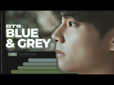 BTS - Blue & Gray   Line Distribution (Color Coded)