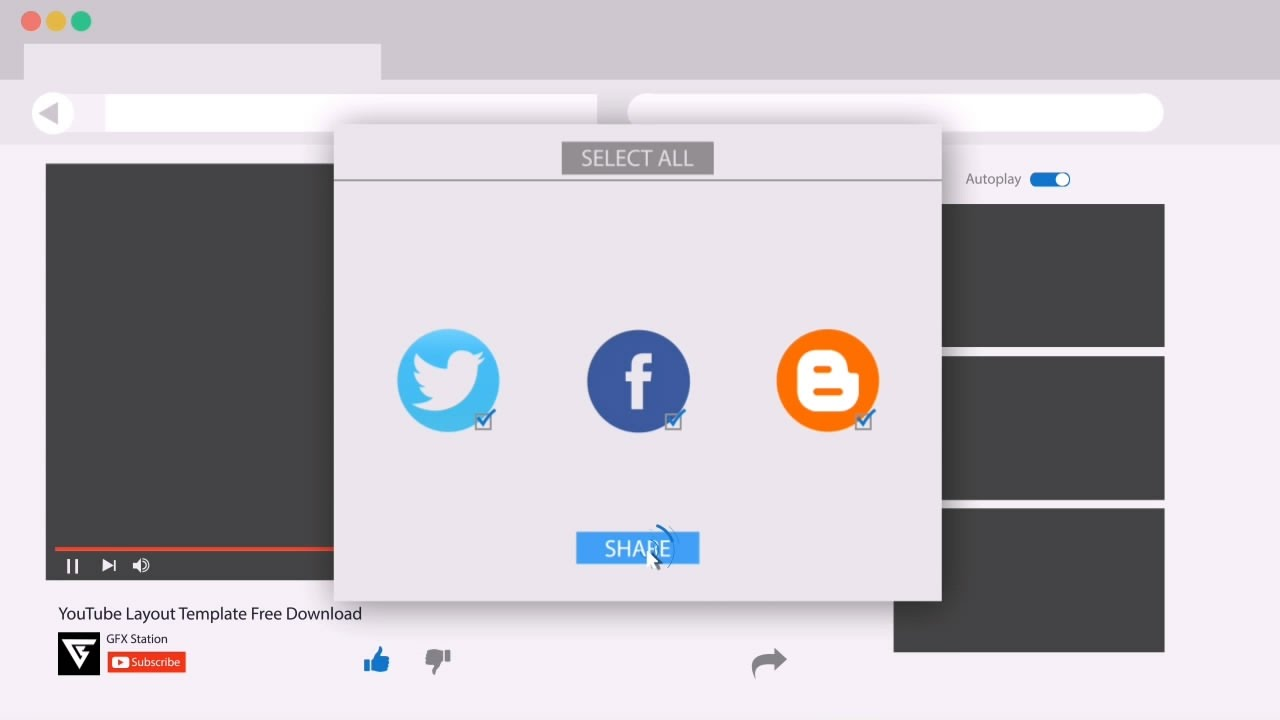 awesome after effects motion graphics youtube layout template youtube