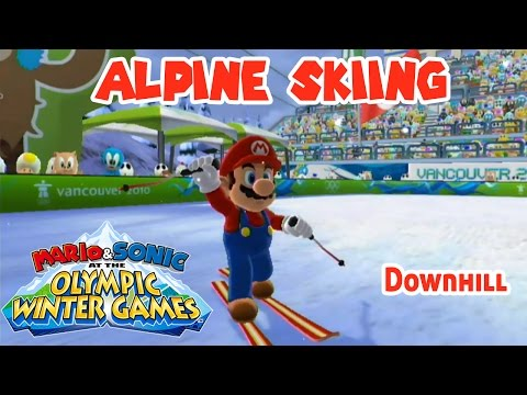 ALPINE SKIING - Mario & Sonic at the Olympic Winter Games (Vancouver 2010) (Wii U)