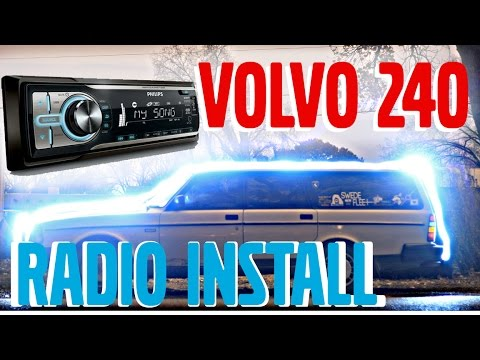 HOW TO Volvo 240 Aftermarket Radio Installation  19761993  YouTube