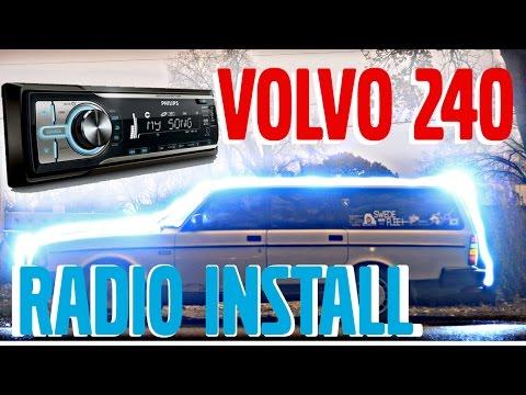 🇸🇪how to volvo 240 aftermarket radio installation  19761993