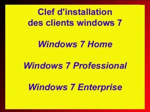 Universal Sérial Key Windows 7 Activation Licence Seven Microsoft Home Professional, Enterprise