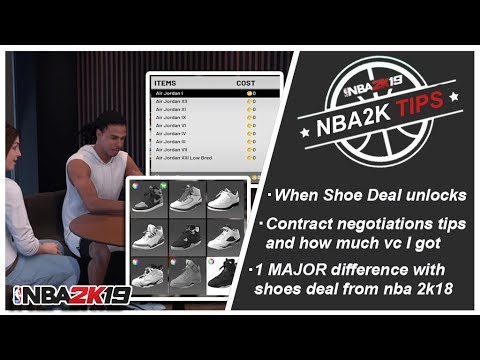NBA 2K19 - TIPS #3 SHOE ENDORSEMENT And 1 MAJOR DIFFERENCE FROM NBA 2K18)
