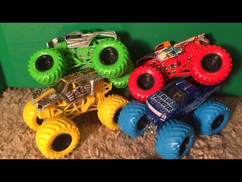2019 Spin Master Monster Jam Mix 04 Demolition Doubles Unboxing & Review!