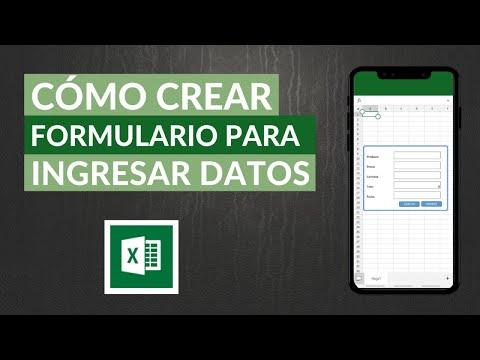 Cómo Crear Formulario en Excel para Ingresar Datos