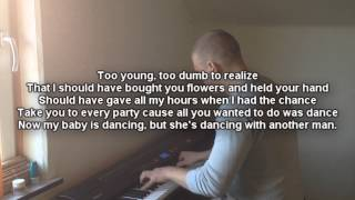When I Was Your Man - Bruno Mars - KARAOKE piano cover
