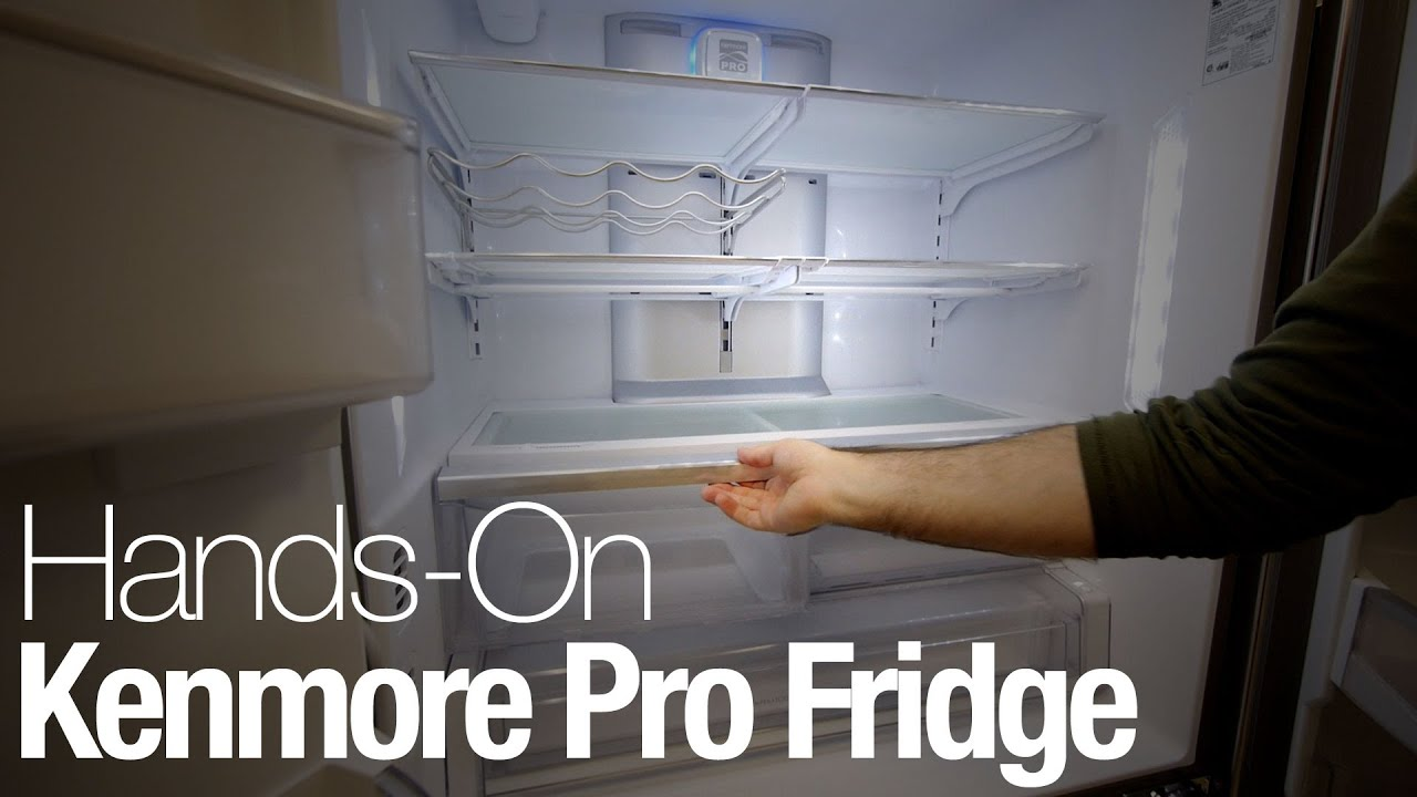 How To Level A Kenmore Refrigerator Hands On With The Kenmore Pro Fridge Youtube
