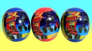 Surprise Eggs Blaze And The Monster Machines Car Toys For kids Nickelodeon Cartoon