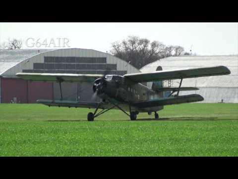 "Antonov An-2 SP-ALI  "" Ali Baba ""  EPWS taxi and takeoff 16.04.2011"