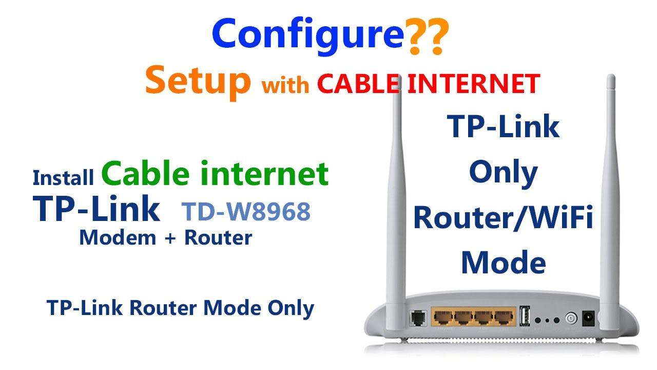 Configure Tp link modem with local cable internet | Connect rj45 ...
