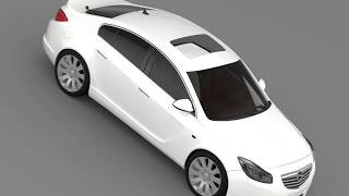 3D Model of Opel Insignia Hatchback 2008-13 Review