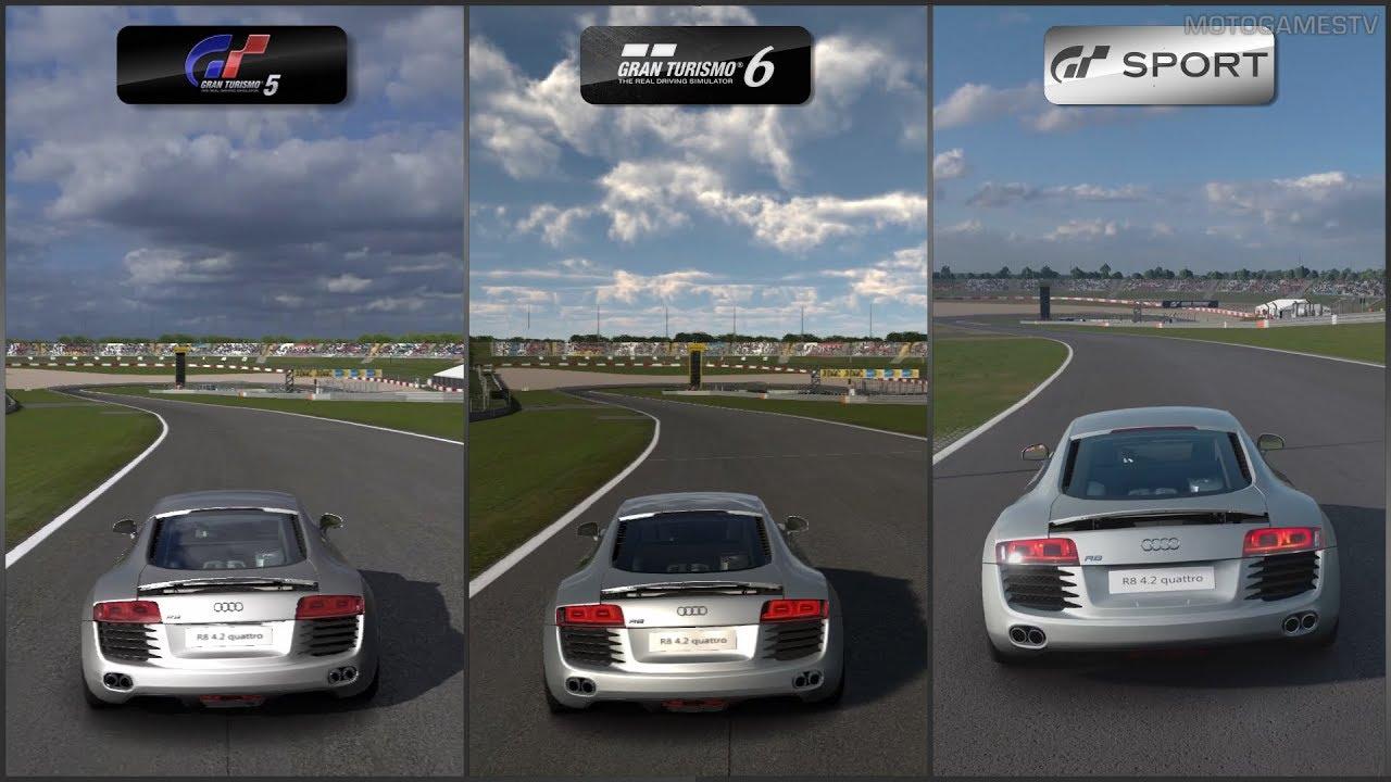 Gran Turismo 5 vs Gran Turismo 6 vs Gran Turismo Sport ...