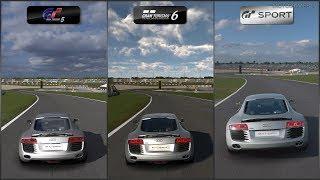 Gran Turismo 5 vs Gran Turismo 6 vs Gran Turismo Sport - Audi R8 4.2 FSI R tronic '07 at Nurburgring