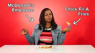 Fast Food Employees Review Each Other's Fries