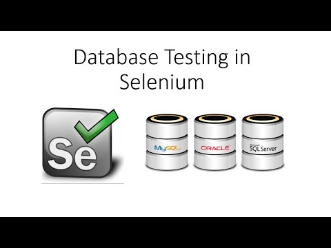 Database Testing Using Selenium Webdriver