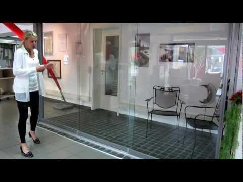 Extrem Glas-Schiebe-Tür unter dem Terrassendach , Glas-Schiebetüren AW62