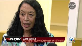 Bags checked at Palm Beach County vote recount site