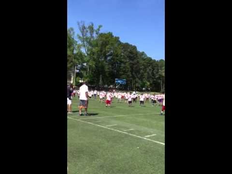 Thomas Davis defending dream football camp 2015