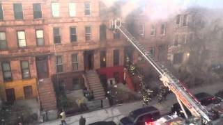 Building on fire in Brooklyn