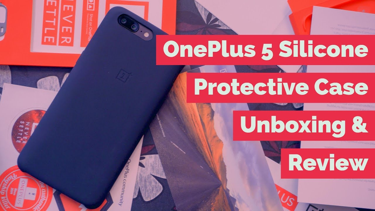 quality design c21ea 293cf OnePlus 5 Silicone Protective Case Unboxing & Review - Is the best official  case from OnePlus?